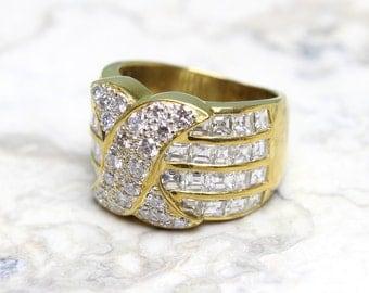 18k Gold Cigar Ring Etsy