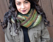 Infinity Scarf - Circle Scarf - Eternity Scarf - Camou Cowl - Neck Warmer - Woodland Scarf - For Him and Her - Ready to Ship
