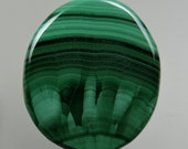 Malachite Banded Chatoyant Sunburst 100% Natural Hand Cut Cabochon from 49erMinerals Stock#C1151, free U.S. shipping