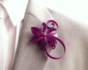 Boutonniere, Cassis Boutonniere, Berry Buttonhole, Cassis Wedding, Mens Wedding Boutonnieres, Corsage for Men, Keepsake Wedding