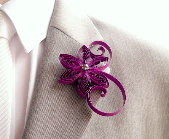Boutonniere, Cassis Boutonniere, Berry Buttonhole, Cassis Wedding, Mens Wedding Boutonnieres, Corsage for Men, Keepsake Wedding