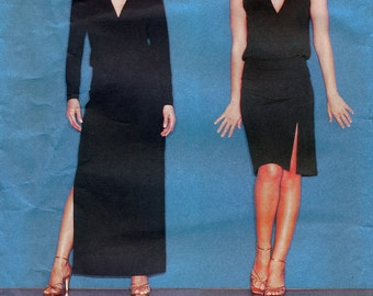 Vogue American Designer 2555 Sewing Pattern by Donna Karan for Misses' Mock-Wrap Top and Skirt - Uncut - Size 18, 20, 22