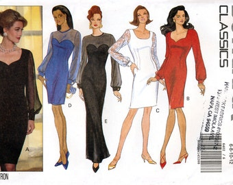 Butterick Classics 6402 Sewing Pattern for Misses' Evening Dress - Uncut - Size 6, 8, 10, 12