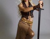Fingerless Leather Gloves OR Wraps   Costume Cosplay Mad Max Daenerys Khaleesi Game of Thrones Warcraft Tribal Bellydance PungoPungo