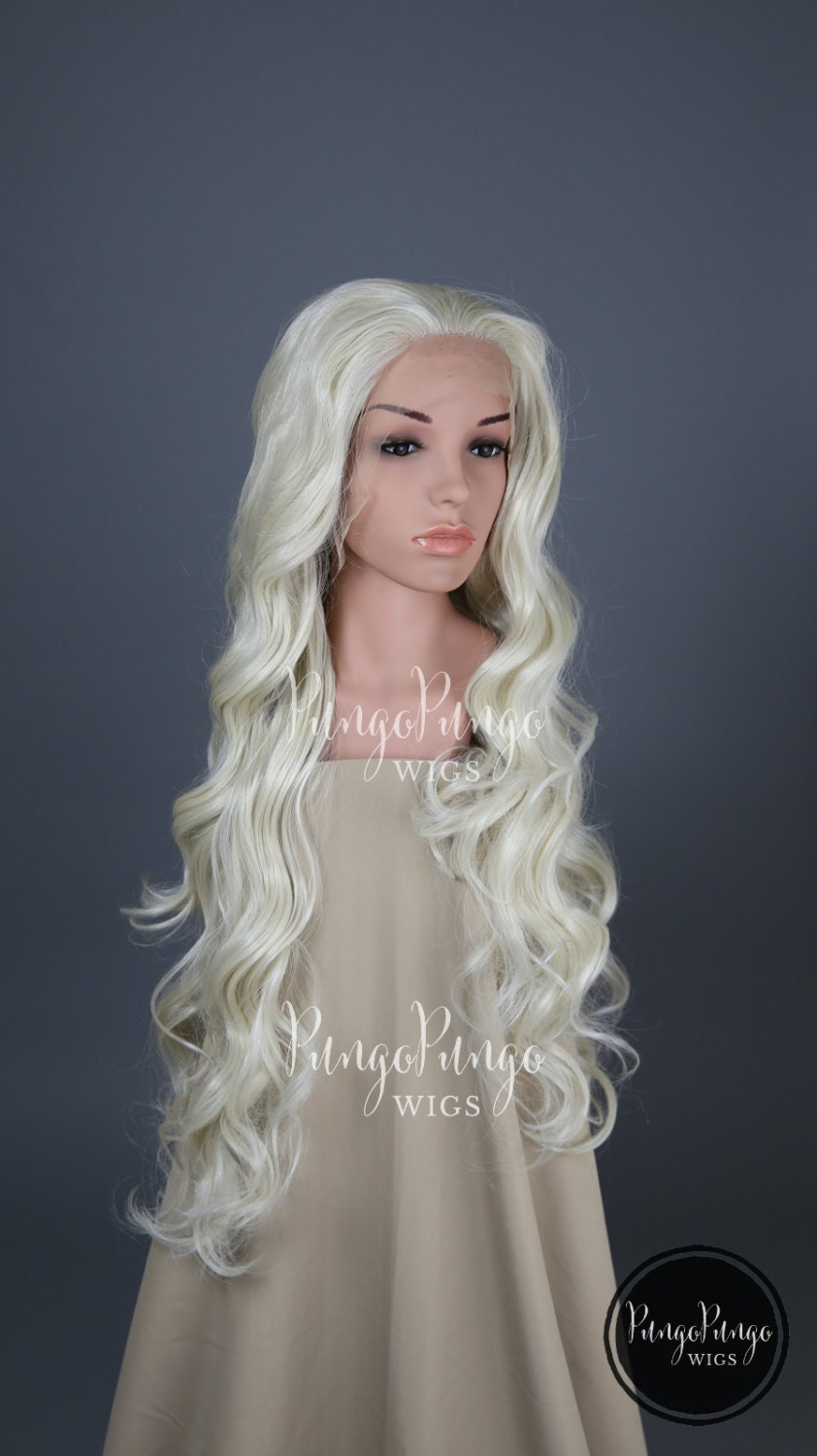 White Blonde Cosplay Wig 10