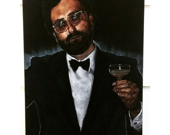 Custom Black Velvet Portrait -  24 x 36