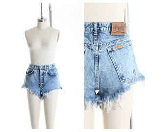 Vtg  EDWIN Acid Wash Frayed Shorts size 4