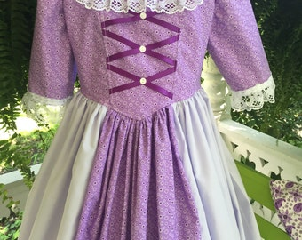 Girl's Ships Today  - Colonial,  Felicity, American Girl Costume -   Girls Sz  6