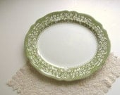 Vintage Ironstone Platter / Sherwood Ironstone by J G Meakin England / Oval Serving Plate / Meat Platter / Dishwasher Safe