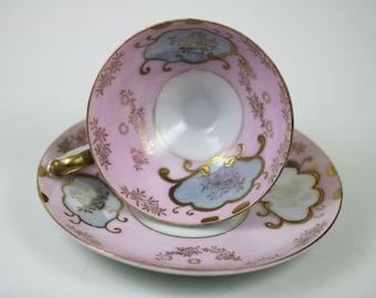 Vintage Thames Pink Tea Cup and Saucer
