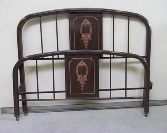 Antique Ornate Iron Bed Frame C 1800s Full By