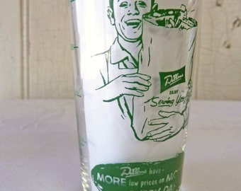 Vintage Dillons Grocery Glass - Advertising Promotion - Measuring Glass - Wichita Kansas - 1950s or 1960s