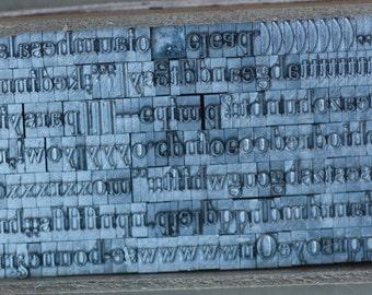 Letterpress Type Alphabet 14 pt Capitals Lower Case complete sets letters numbers punctuation