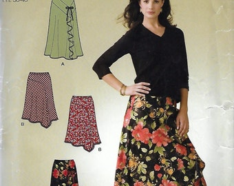 Simplicity 4016 Misses Bias Skirts in Two Lengths Sewing Pattern Size 8 to 18 Waist 24 to 32