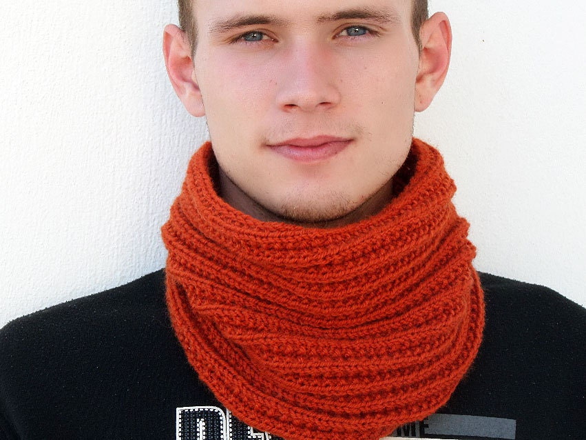 blue product accessories normal cable asos in lyst twist scarf mens gallery yarn snood for men navy infinity