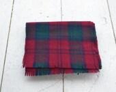 1970s Scottish Lambswool Tartan Scarf