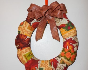 Fall Mini Fabric Wreath