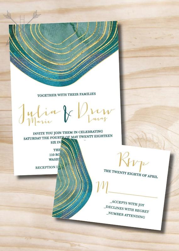 Modern Wedding Invitation Suites Chatterzoom