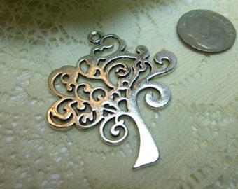 1-Tibetan Silver or BronzeTree of Life Charm Pendant Embellishment Drop 38 x 42mm