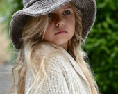 KNITTING PATTERN - Freelyn Brim Hat (Small, Medium, Large and XLarge sizes)