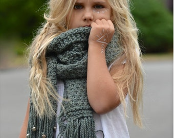 KNITTING PATTERN-Wild Heart Scarf (Small, Medium and Large sizes)