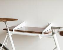 Velo WallStirrups® | wall mounted bike rack and shelf