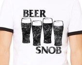 Beer Snob Craft Beer Homebrew Graphic Tee for Beerfestival, Oktoberfest, Birthday, Christmas, Fathers Day