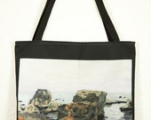 "Tote Bag, 'Shell Beach' by Shelley Irish, 18"" x 18"", Original Art Bag"