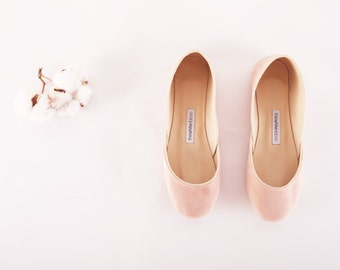 Blush Suede Ballet Flats | Leather Ballerinas | Slip Ons | Simple Minimalist Chic Shoes | Flat Summer Shoes...Blush...Ready to Ship!