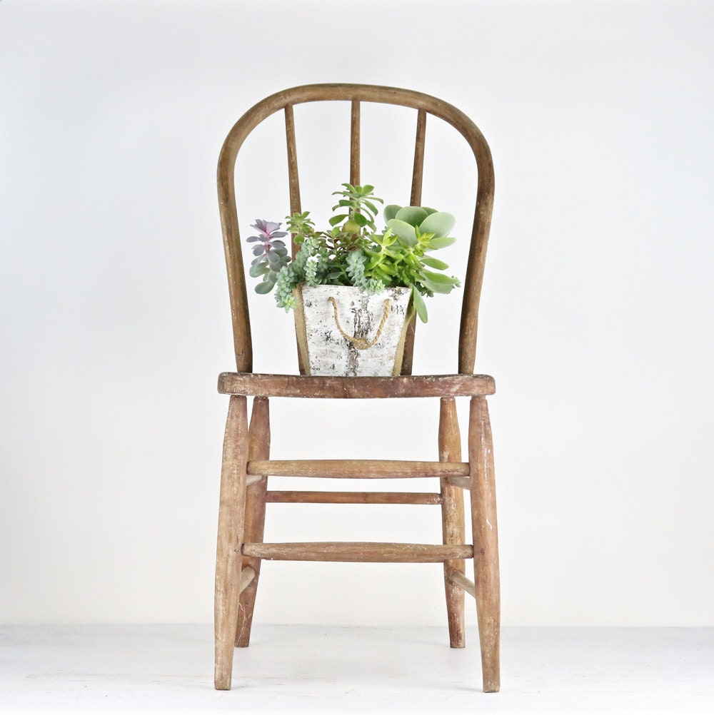 Rustic Dining Chair Antique Spindle Chair Primitive Chair