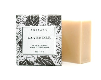 L A V E N D E R - Soothing Lavender Oil scented, Face & Body Soap, Handmade Soap, Natural Soap, Olive Oil Soap