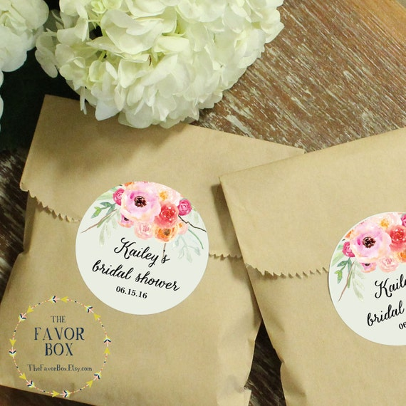 Wedding Favor Bag Labels : ... Labels // Wedding Favors // Bridal Shower Favors // Kraft Favor Bags