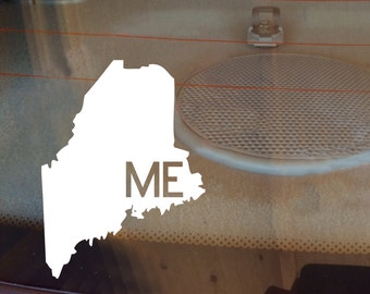 Maine Car Decal, State Decal, Maine Decal, Laptop Sticker, Laptop Decal, Car Sticker, Decal, Vinyl Decal, ME, Window Decal, Window Sticker