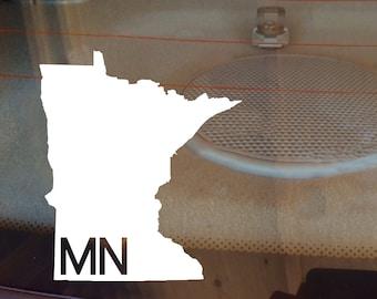 Minnesota Car Decal, State Decal, Minnesota Decal, Laptop Sticker, Laptop Decal, Car Sticker, Car Decal, Vinyl Decal, MN, Window Sticker