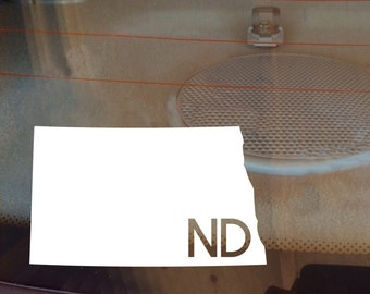 North Dakota Car Decal, State Decal, North Dakota Decal, Laptop Sticker, Laptop Decal, Car Sticker, Decal, Vinyl Decal, ND, Window Sticker