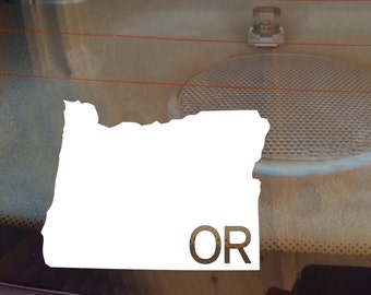 Oregon Car Decal, State Decal, Oregon Decal, Laptop Decal, Laptop Sticker, Car Sticker, Car Decal, Vinyl Decal, OR, Window Decal, Any State
