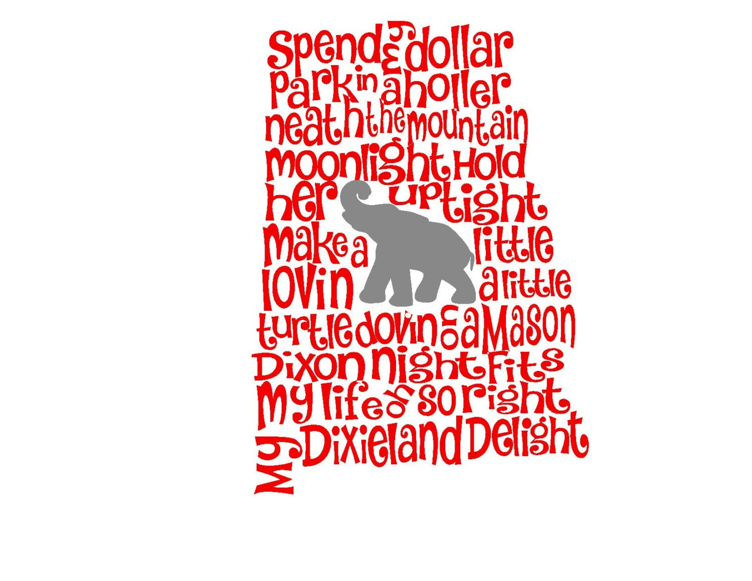 Alabama Dixieland Delight Song State Svg Or By Mandanoelle