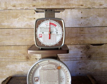 2 Vintage Pelouze Postal Scales - Shop Supplies - Photography Prop - Set of Two Industrial Style Scales