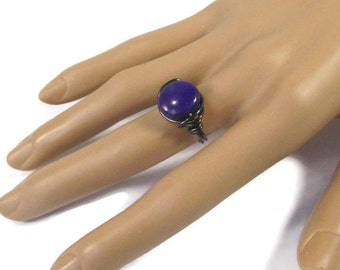 Purple Jewelry - Wire Wrapped Ring - Gemstome Rings - Winter Fashion - 12mm - Custom Size