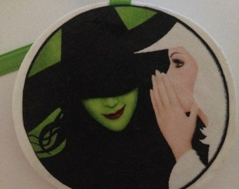Wicked Elphaba and Glinda Ornament