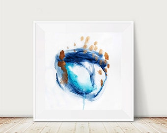 Scandinavian art print, Scandinavian poster art, blue art, Scandinavian poster print, watercolor art, watercolor print, Nordic art