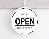 Round Modern Business Sign, Open Sign, Closed Sign, Custom Sign, Store Sign, Office Sign, Wall Art, Wood Sign