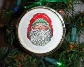 Santa #6 Cross Stitch Ornament