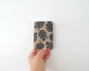 Back to school, Monstera print pocket notebook, Monstera leaf writing journal, Tropical leaf small notebook, Cute notebooks, Plant lady