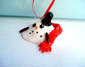 Snowman Christmas Ornament Melted Snowman Ornaments Christmas Decoration Snowman Funny Gift Ornament