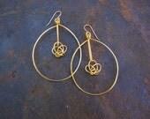 Hoop Twist Earrings / Gold Hoop Earrings / Sterling Silver Hoop Earrings / Valentine's gift for her