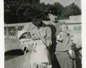 "Vintage Photo ""The Nannies"" Snapshot Photo Old Antique Photo Black & White Photograph Found Paper Ephemera Vernacular - 84"