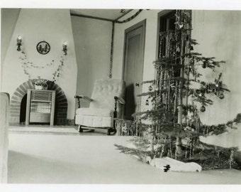 "Vintage Photo ""Christmas Eve"" Snapshot Antique Photo Old Black & White Photograph Found Paper Ephemera Vernacular - 11"
