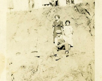 "Vintage Photo ""The Watchers"" Group Snapshot Photo Old Antique Photo Black & White Photograph Found Photo Paper Ephemera Vernacular - 162"