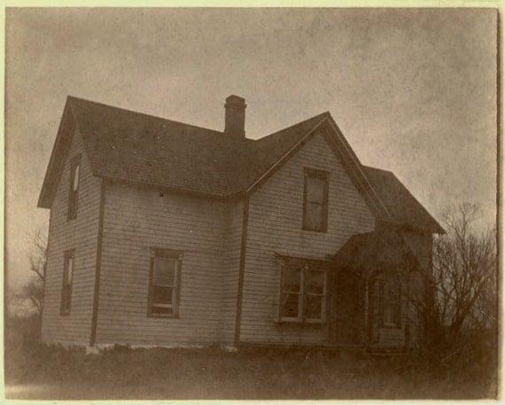 1800s Antique Photo Nightmare Farm Home Decor Old
